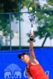 Tennis. BANGKOK, APRIL 4 : Chanel Simmonds of South Africa action in Chang ITF Pro Circuit International Tennis Federation 2015 at Rama Gardens Hotel on April 4 Royalty Free Stock Images