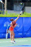 Tennis. BANGKOK, APRIL 4 : Chanel Simmonds of South Africa action in Chang ITF Pro Circuit International Tennis Federation 2015 at Rama Gardens Hotel on April 4 Stock Photography