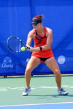 Tennis. BANGKOK, APRIL 4 : Chanel Simmonds of South Africa action in Chang ITF Pro Circuit International Tennis Federation 2015 at Rama Gardens Hotel on April 4 Royalty Free Stock Photo