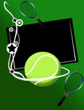 Tennis banner Royalty Free Stock Photos