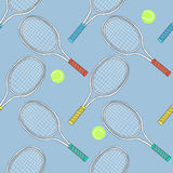Tennis bats and balls Royalty Free Stock Photography