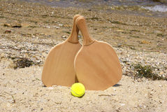Tennis beach racket Stock Photos