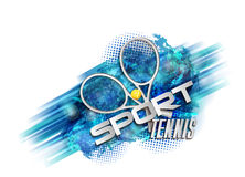 Tennis bleu abstrait de sport de fond Images libres de droits