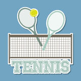 Tennis blue Royalty Free Stock Photo