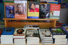 Tennis books on display at Billie Jean King Tennis Center during US Open 2014 Stock Photo