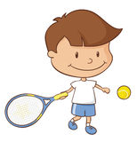 Tennis Boy Royalty Free Stock Images