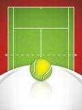 Tennis brochure Stock Image