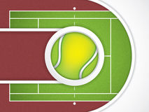 Tennis brochure Stock Photo