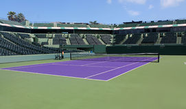 Tennis camp. Crandon Park Tennis Center Stadium Court Stock Images