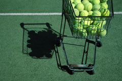 Tennis cart Stock Photography