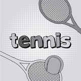 Tennis cartoon Royalty Free Stock Photography