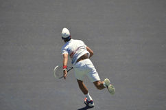 Tennis Champion Novak Djokovic forehand follow-thru Royalty Free Stock Photo