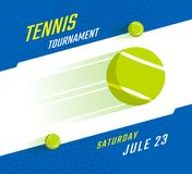 Tennis championship poster. Tennis championship or tournament poster design. Vector illustration Stock Photos
