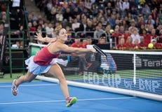 Tennis che giocano una doppia partita fotografie stock libere da diritti