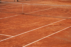 Tennis clay court Stock Photography