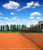 Tennis clay court Royalty Free Stock Images