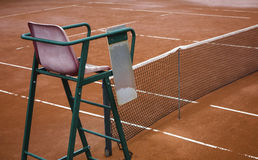 Tennis Clay court (chair umpire) Royalty Free Stock Photos