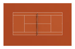 Tennis clay court Royalty Free Stock Image