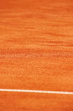 Tennis clay court detail Stock Photos