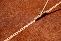Tennis clay court maintenance Royalty Free Stock Photography