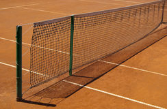 Tennis clay court with net Royalty Free Stock Photography