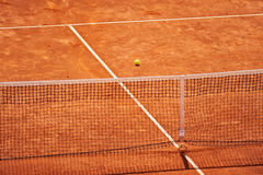 Tennis clay court with no people Stock Images