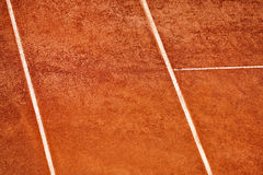 Tennis clay court viewed from above Stock Image