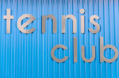 Tennis club, background Royalty Free Stock Photography
