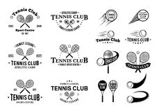 Tennis Club Labels Templates and Design Elements Royalty Free Stock Images