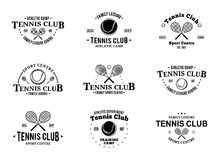 Tennis Club Labels Templates and Design Elements Stock Photo