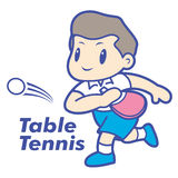 Tennis club mascot. Education and life Character Design series. Stock Images