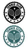 Tennis club stamp Royalty Free Stock Image