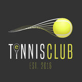 Tennis club vector logo Royalty Free Stock Images