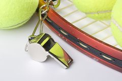 Tennis coach Royalty Free Stock Photo