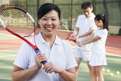 Tennis coach, portrait Stock Photos