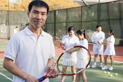 Tennis coach, portrait Royalty Free Stock Photos