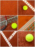 Tennis collage royalty free stock image