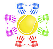 Tennis community concept Stock Photography