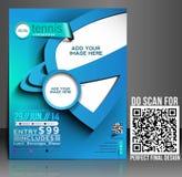 Tennis Competition Flyer Design stock illustration