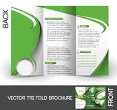 Tennis Competition Tri-Fold Brochure Stock Images