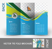 Tennis Competition Tri-Fold Brochure Royalty Free Stock Image