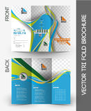 Tennis Competition Tri-Fold Brochure Stock Image