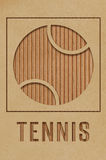 Tennis Concept. Tennis art concept made from cutout cardboard royalty free illustration