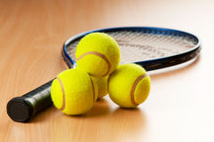 Tennis concept with balls Royalty Free Stock Image