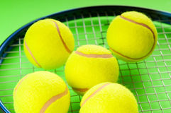 Tennis concept with balls Royalty Free Stock Photos