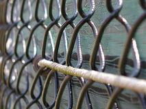 Tennis Count Fence stock photography