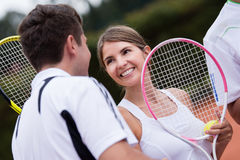 Tennis couple Stock Image