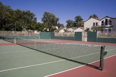 Tennis Court. A community tennis court in california Royalty Free Stock Photography