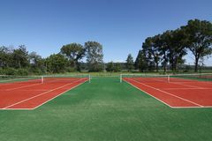 Tennis court. Little tennis court an village Royalty Free Stock Photos