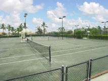 Tennis Court. Two empty Florida tennis courts Royalty Free Stock Photography